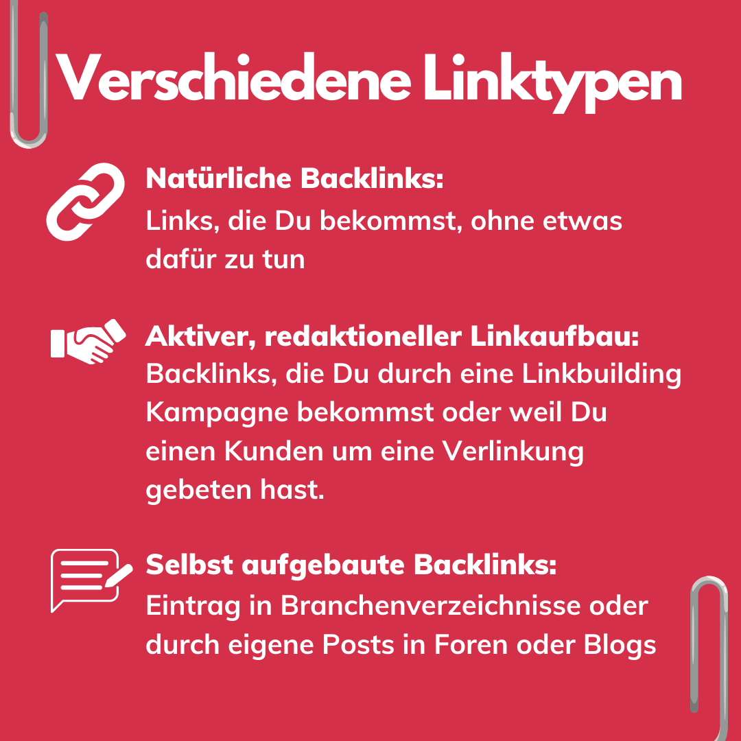 Backlink Typen bei Offpage Optimierung